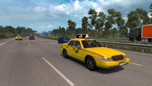 Mod Yellow taxis in traffic for ETS 2