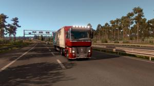 Mod Tuned trucks in traffic for ETS 2
