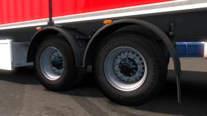 Mod Realistic trailer tires for ETS 2