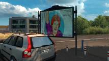 Mod Realistic advertising for ETS 2