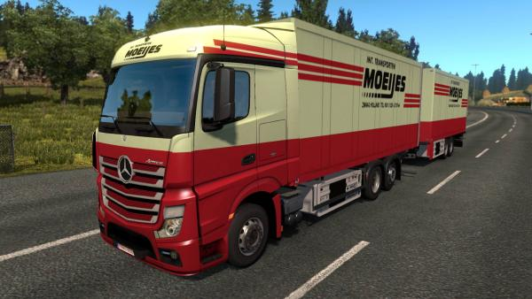 Mod BDF trailers with logos of popular brands - Painted BDF Traffic Pack for ETS 2