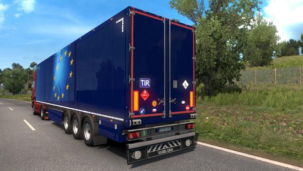 Мод наклейок і табличок на трейлери Signs on Your Trailer для ETS 2