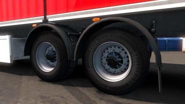 Realistic Trailer Tires Mod for ETS 2