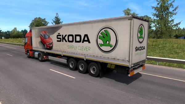 Mod realistic trailers with brand logos Sisl's Trailer Pack for ETS 2