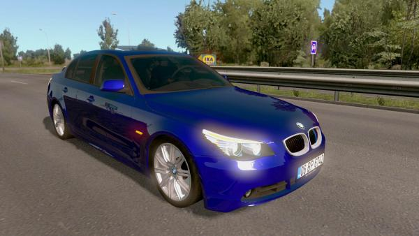 Mod passenger car BMW E60 for ETS 2