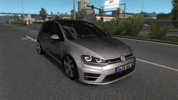 The seventh-generation Volkswagen Golf in the R-Line configuration passenger car mod for ETS 2