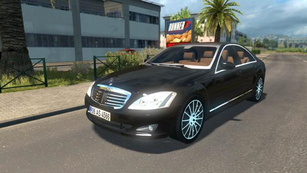 Mod passenger car Mercedes-Benz S350 for ETS 2