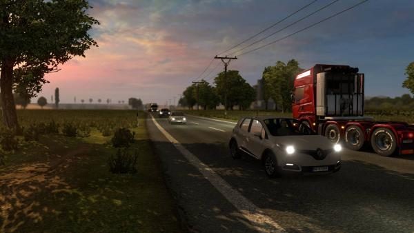 Mod new passenger cars in traffic - AI Traffic Pack for ETS 2