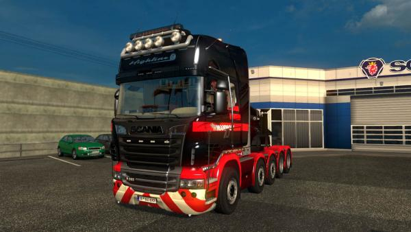 Tuning mod for standard Scania R tractors for ETS 2
