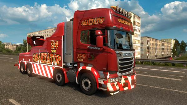 Scania Streamline tow truck mod for ETS 2