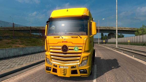 Tuning mod for the standard Mercedes-Benz Actros MP4 tractor unit for ETS 2
