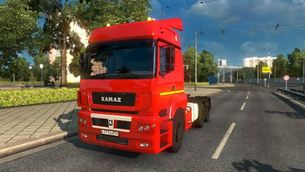 Mod Russian trucks KamAZ-5490, 65206 and 6580 for ETS 2