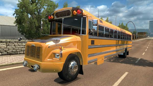 School bus mod Freightliner FS-65 for ETS 2