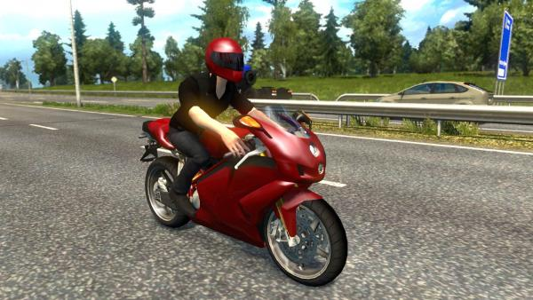 Motorcycle mod in traffic for ETS 2