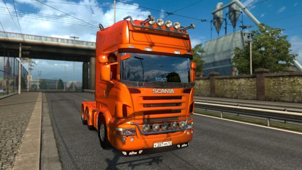 Mod additional tuning standard Scania tractors for ETS 2