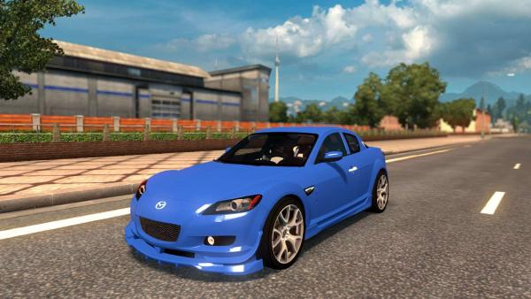 Mod sports car Mazda RX-8 for ETS 2