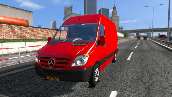 Мод фургона Mercedes-Benz Sprinter для ETS 2