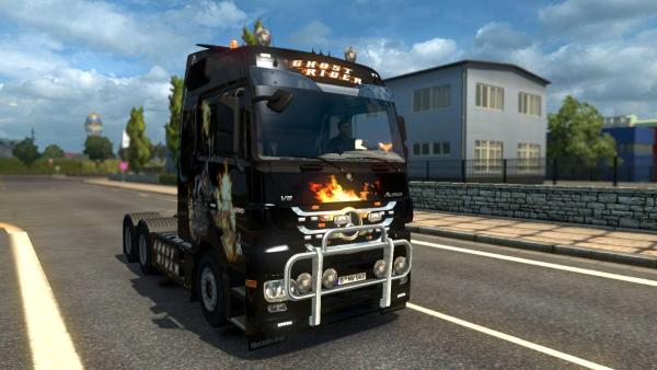 Мод тюнінгу тягача Mercedes Actros MP3 by Schumi для ETS 2