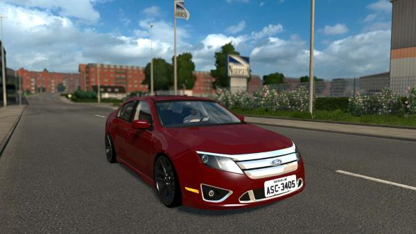 Mod passenger car Ford Fusion US, sample 2010 for ETS 2