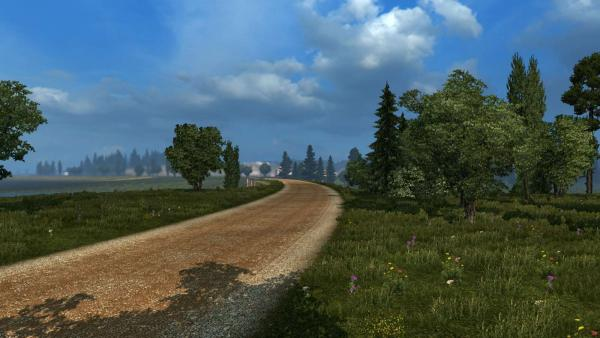Mod maps Russian Open Spaces for ETS 2