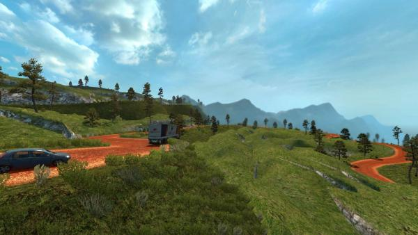 Dangerous route map mod for ETS 2