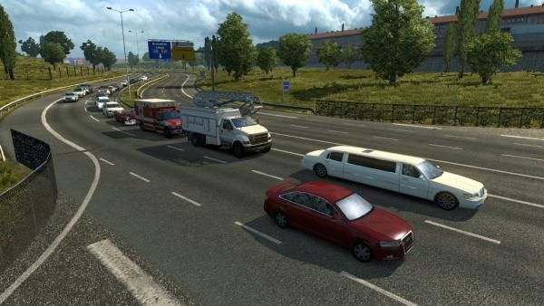 Traffic mod from American Truck Simulator for ETS 2