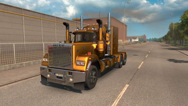 Powerful Mack Super-Liner main truck mod for ETS 2