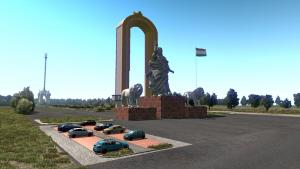 Mod Map of the Republic of Tajikistan for ETS 2