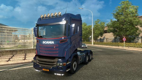 Mod trunk truck Scania R1000 for ETS 2