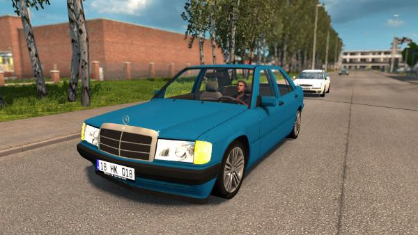 Mod passenger car Mercedes-Benz 190E for ETS 2