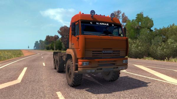 Mod off-road trucks KamAZ-4326, 65221, 6350 and 43118 for ETS 2