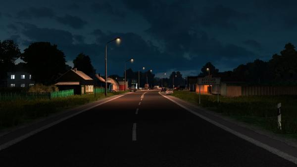 Lights AI Cars visualization mod for ETS 2