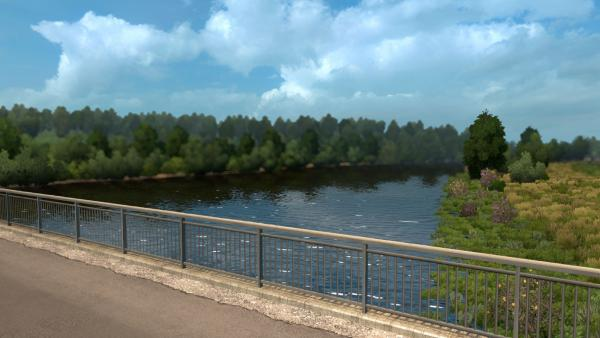 Summer environment mod for ETS 2