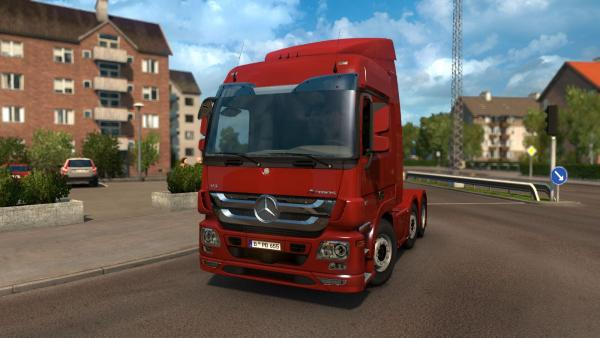 Mod new tuning truck Actros MP3 for ETS 2
