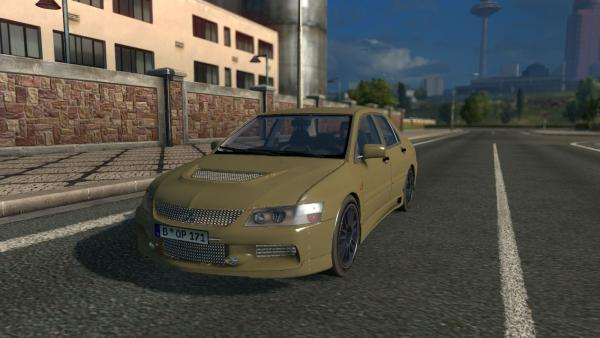 Mitsubishi Lancer Evolution passenger car mod for ETS 2