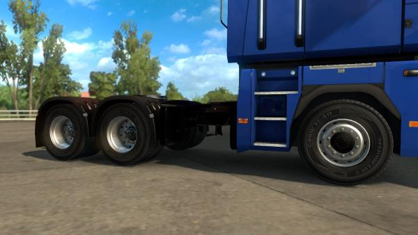50K mod pack and realistic tires for ETS 2