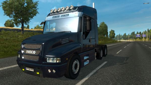 Powerful truck mod Iveco Strator for ETS 2