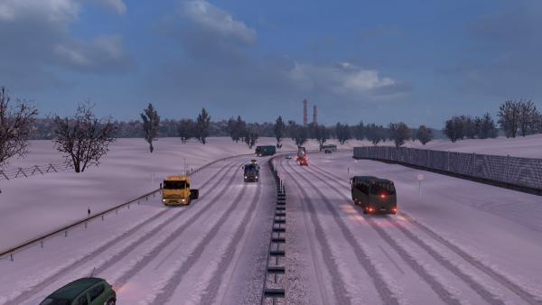 Frosty Winter mod for ETS 2