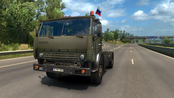 Mod of the Russian truck KamAZ-5410 for ETS 2