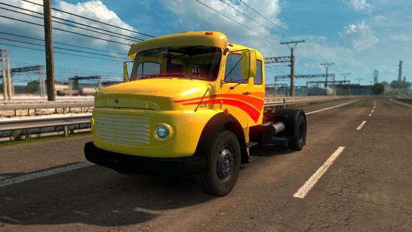 Truck mod Mercedes-Benz LS-1519 and LS-1525 for ETS 2