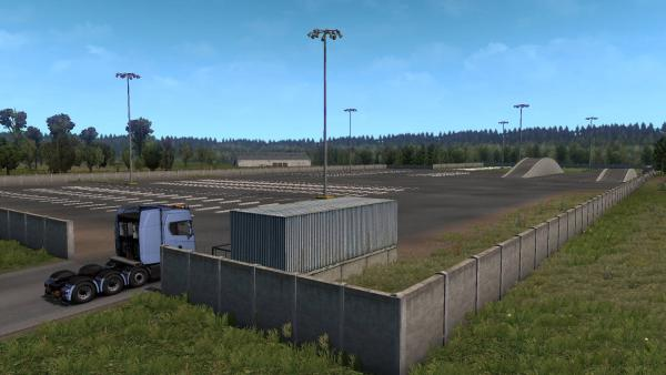Test Ground map mod - Truck Test Area for ETS 2
