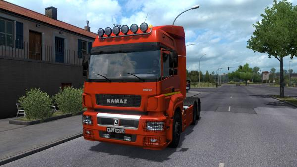 Mod Russian trucks KamAZ-5490 and 65206 for ETS 2