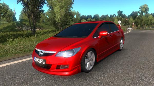 Mod car Honda Civic FD6 for ETS 2