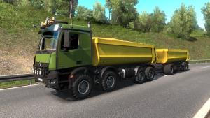 Mod Mercedes-Benz Arocs Agrar with Kipper trailer for ETS 2