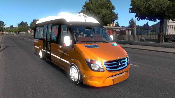 Mod of a minibus Mercedes-Benz Sprinter, sample of 2017 for ETS 2