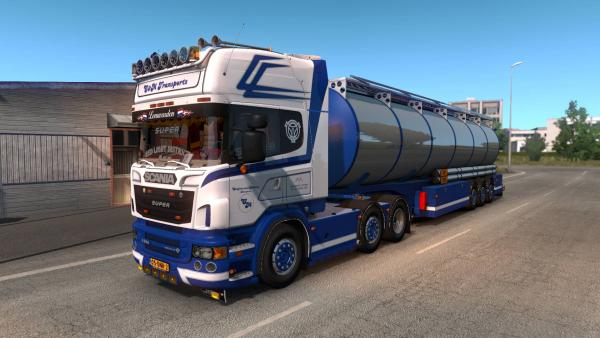 Scania R500 truck mod with fuel tank for ETS 2