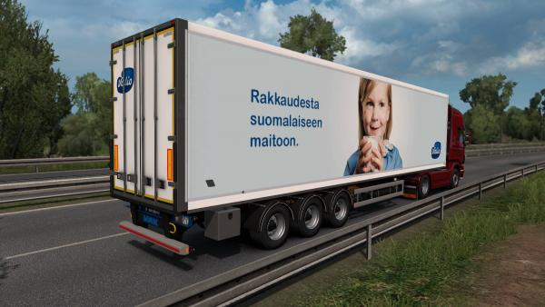 Mod trailers Finnish company VAK for ETS 2