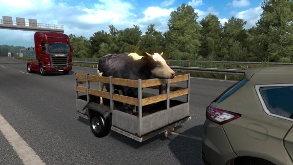 Animal trailer mod for Euro Truck Simulator 2