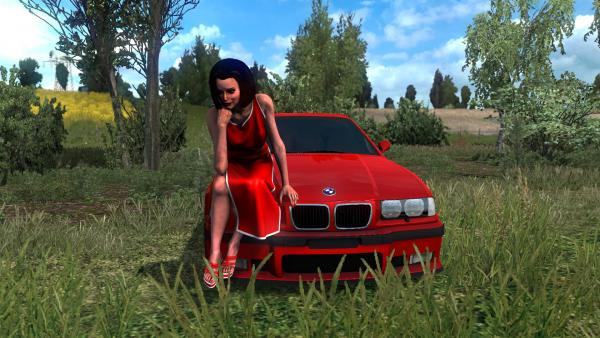 Mod sports car BMW E36 M3 for ETS 2